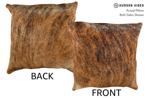 Medium Brindle Cowhide Pillow #18983