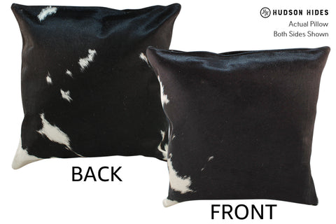 Black and White Cowhide Pillow #18987