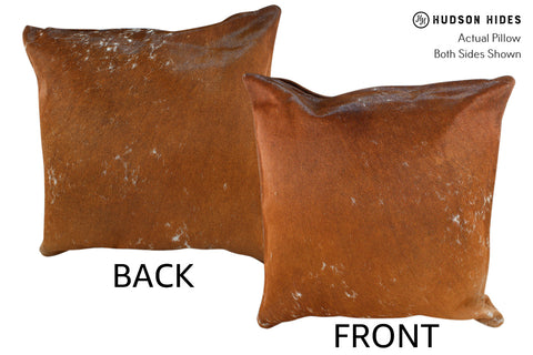 Salt and Pepper Brown Cowhide Pillow #19000