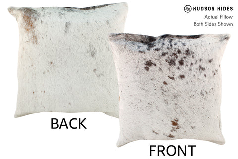 Salt and Pepper Brown Cowhide Pillow #19008