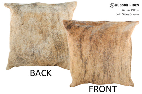 Light Brindle Cowhide Pillow #19013