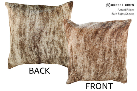Light Brindle Cowhide Pillow #19014