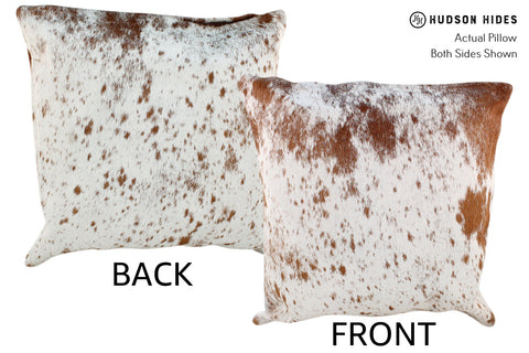 Salt and Pepper Brown Cowhide Pillow #19015