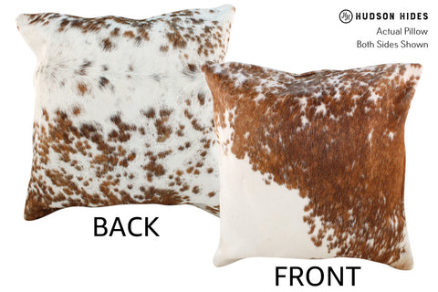 Salt and Pepper Brown Cowhide Pillow #19025