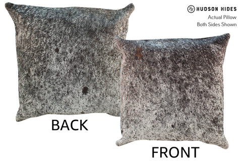 Salt and Pepper Black Cowhide Pillow #19048