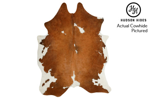 Brown and White Cowhide Rug #5190