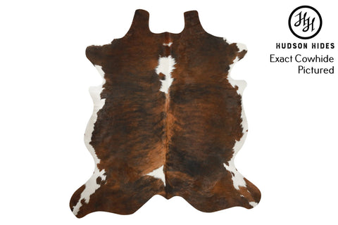 "Tricolor X-Large European Cowhide Rug 6'11""H x 6'4""W #6622 by Hudson Hides"