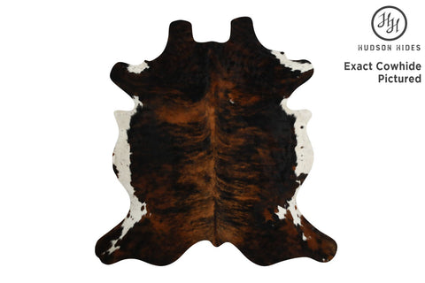 Dark Brindle Cowhide Rug #6848