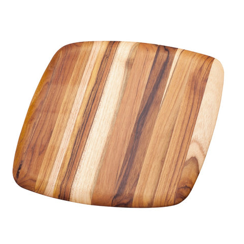 Rectangle Edge Grain Gently Rounded Edge Cutting/Serving Teak Board 203