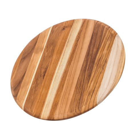 Teak Cutting Board - Rectangle Edge Grain with Corner Hole and Juice Canal 517