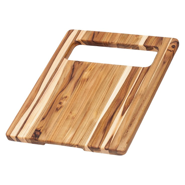Teak Cutting Board - Rectangle Edge Grain Chop and Serve 516