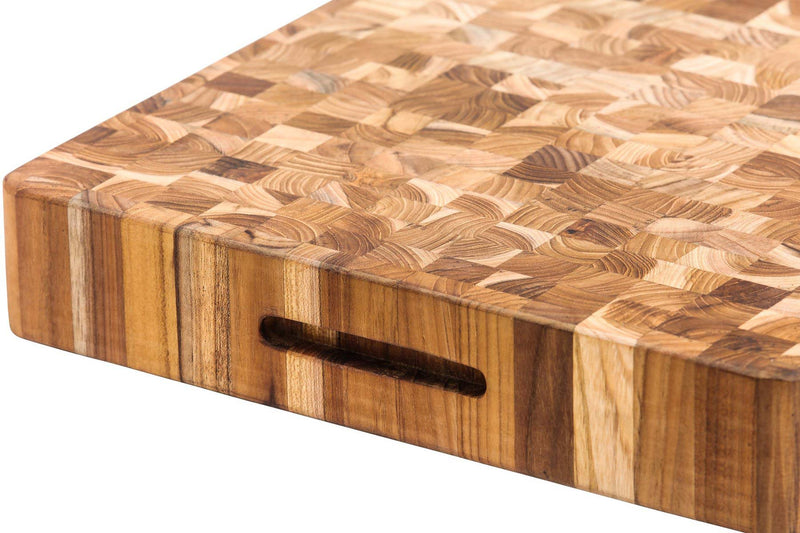 Butcher Block Cutting Board Extra Thick with Bowl Cut Out 601
