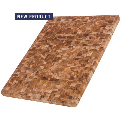 Essential Collection Rectangle Edge Grain Cutting/Serving Teak Board 403