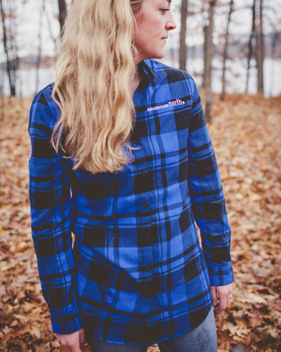 ANMN Blue Women's Flannel Tunic