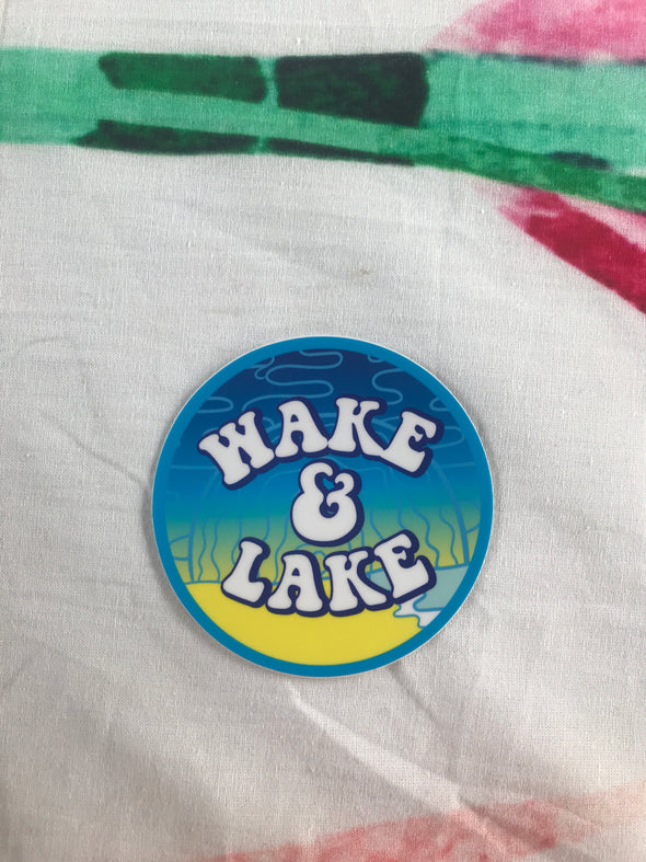 Wake & Lake Sticker