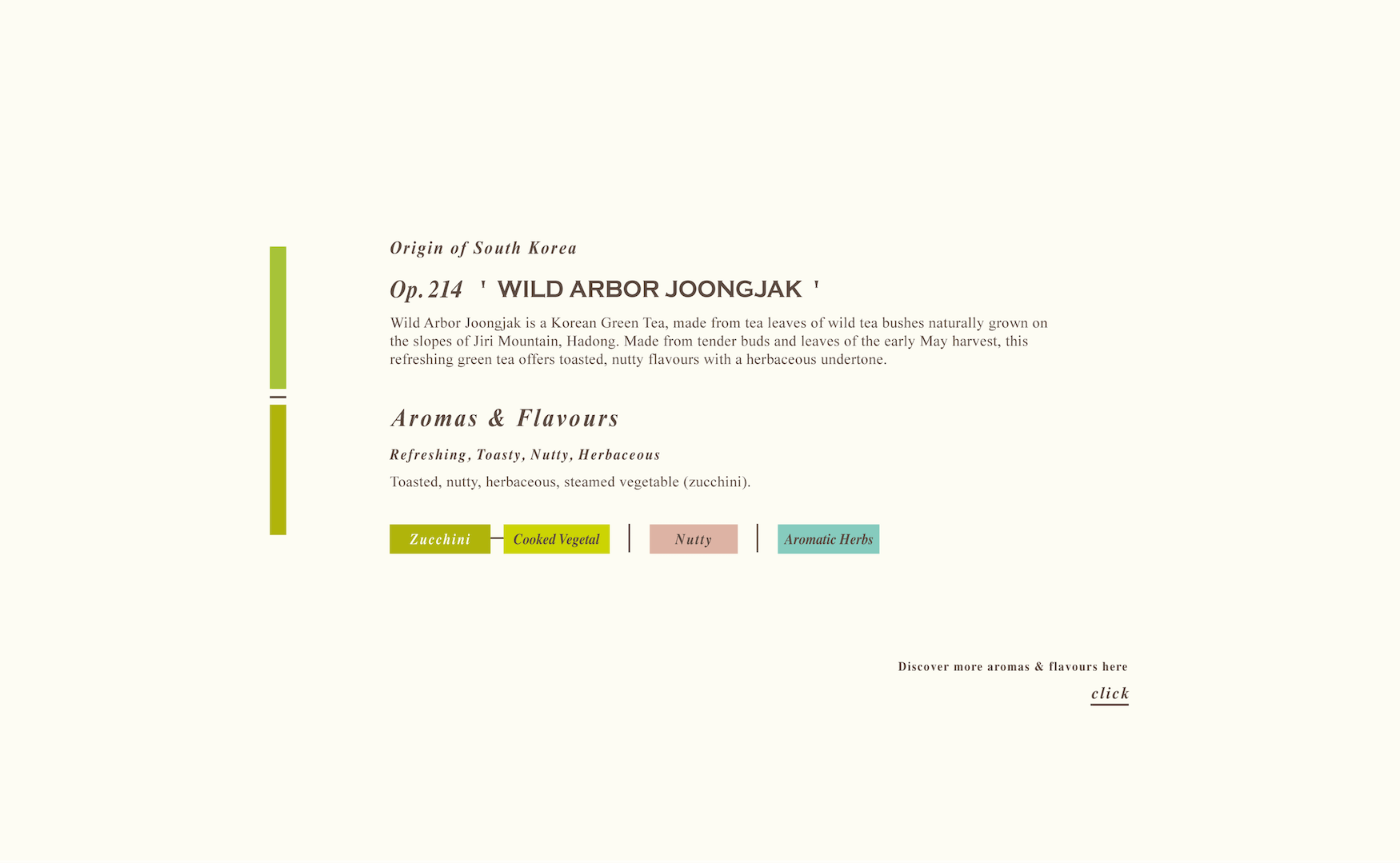 Wild Arbor Joongjak Loose Green Tea