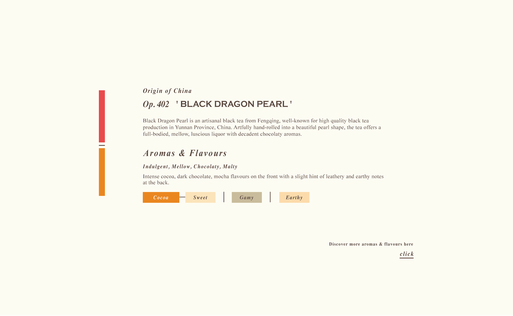 Black Dragon Pearl Loose Black Tea Aroma Profile