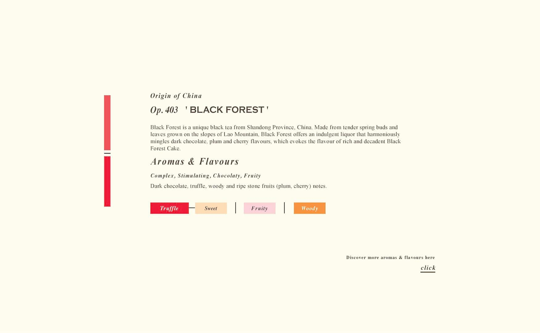 Aroma Card of Black Forest Black Tea from Tea Repertoire London