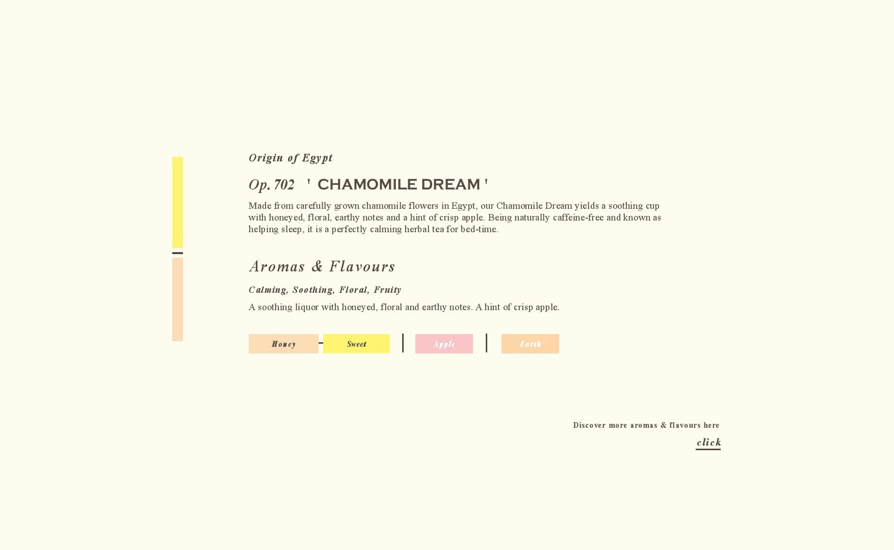 Tea Flavours - Chamomile - Tea Repertoire