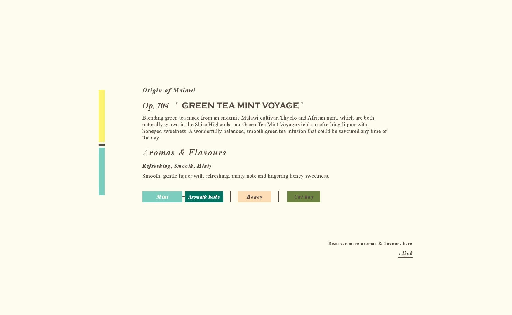 Tea Flavours - Green Tea Mint - Tea Repertoire