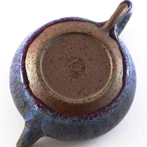 Agate Blue Flambé Glaze Teapot other side from Tea Repertoire