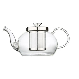 Elegant Glass Teapot + Cup + Saucer Luxury Teaware Gift Set