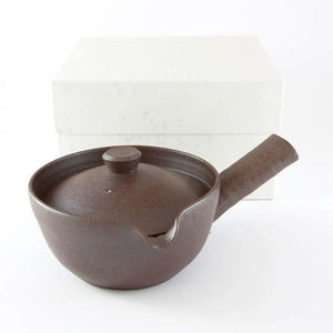 HAND-CRAFTED BROWN KYUSHU TEAPOT (300ML) FROM TEA REPERTOIRE