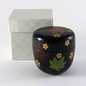 HAND-CRAFTED FOUR SEASONS MATCHA CANISTER FROM TEA REPERTOIRE