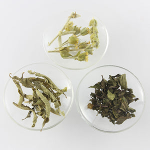 Herbal Tea Set Gift with Lemon Verbena, Pepermint and Greek Mountain Tea