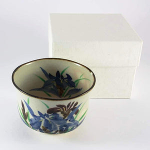 Iris Motif Matcha Bowl (Chawan) from Tea Repertoire