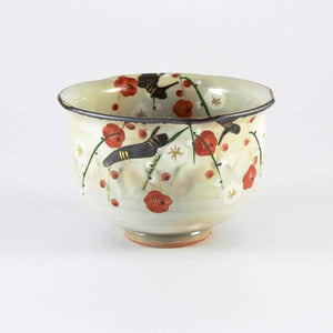 Japanese Plum Blossom Yunomi Tea Cup from Tea Repertoire