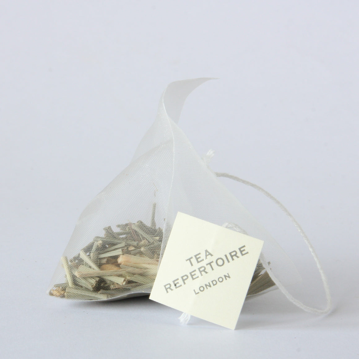 Lemongrass and ginger tea bag