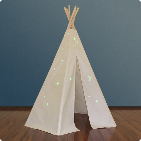 6ft Great Plains Teepee w/ Glow-in-the Dark Stars