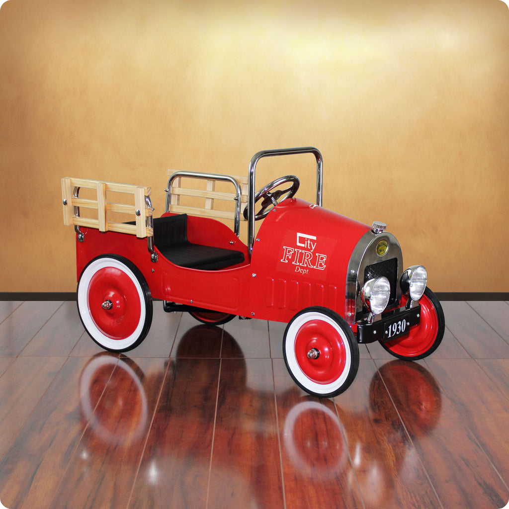 Fire Pickup Truck Pedal Car