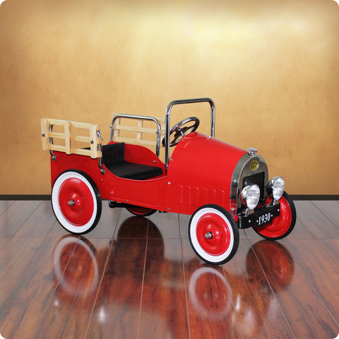 Red Retro Pickup Truck Pedal Car