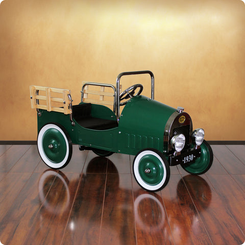Green Retro Pickup Truck Pedal Car