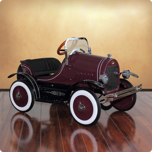 Deluxe Burgundy Roadster Pedal Car