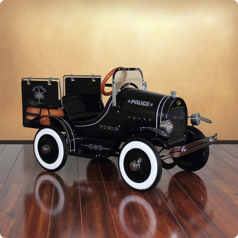 Deluxe Police Pick Up Roadster Pedal Car