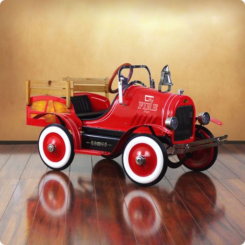 Deluxe Fire Engine Roadster Pedal Car