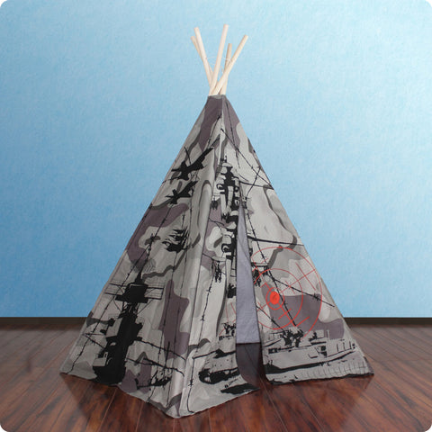 6ft Hideaway Camo Tank Five Panel Teepee