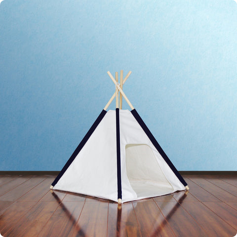 Blue Pocket Dog Teepee with Floor Cover