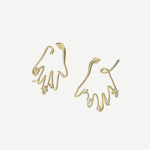 Applauding Earrings - Gold by Yvmin _ Teel Yes