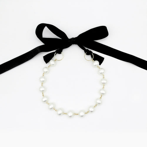 Pearl Ribbon Necklace by Love Me, Monster | Teel Yes