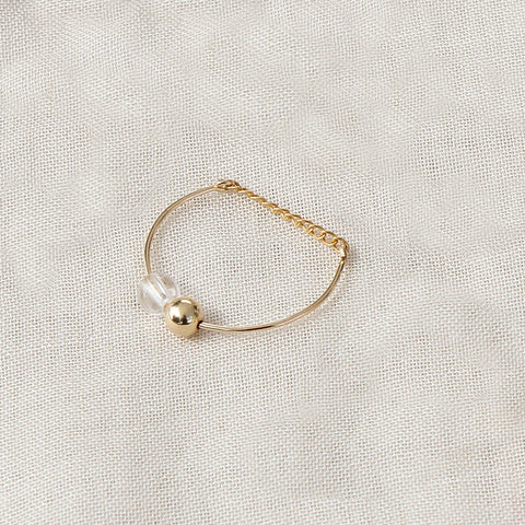Ocean Star Pearl Drop Looping Ring