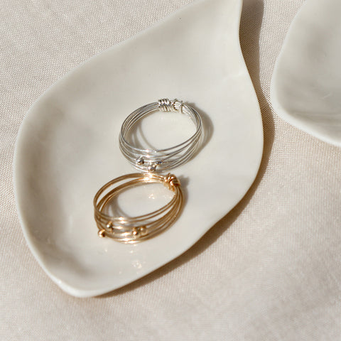 Venus Double Circle Ring - Gold