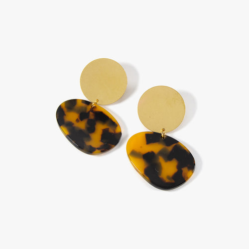 Tortoise Earrings by One Story | Teel Yes