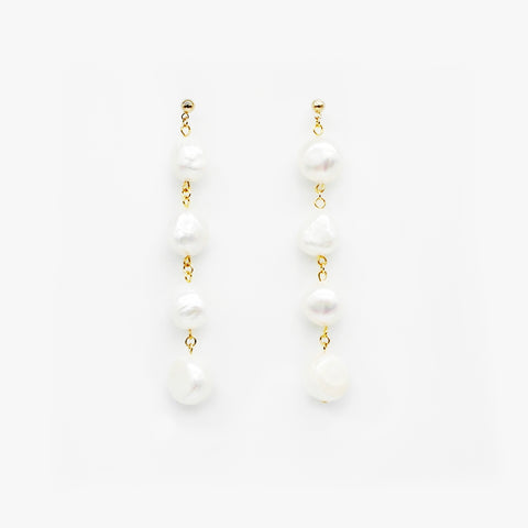 String Pearl Earrings