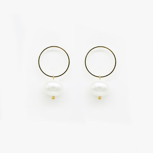 Pearl Hoop Earrings by Love Me, Monster | Teel Yes