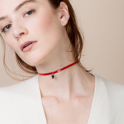 Red Heart Choker - Teel Yes