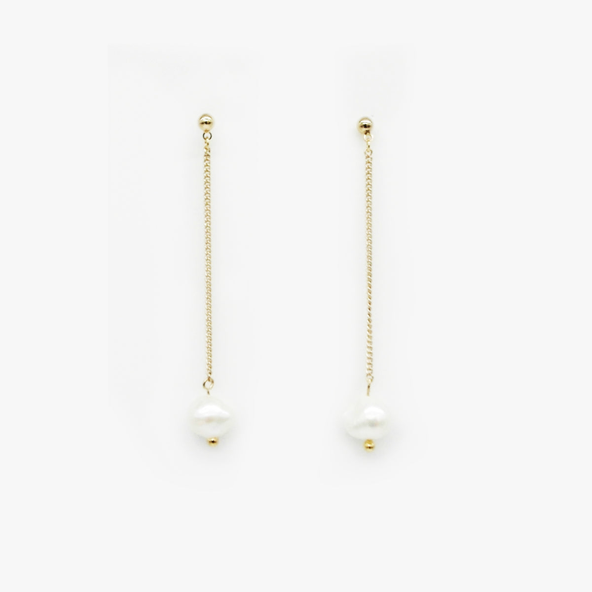 Single Pearl Drop Earrings by Love Me, Monster | Teel Yes